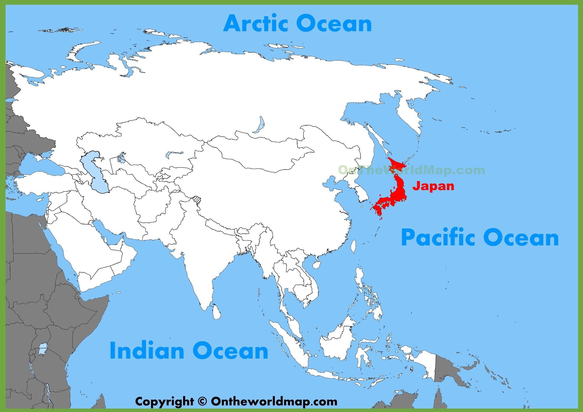 Japani Aasian Kartta Aasia Japani Kartta Ita Aasia Aasia
