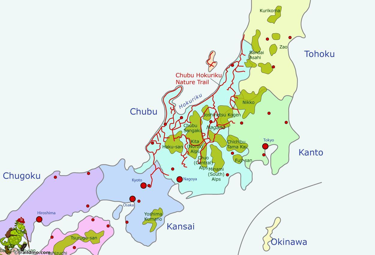Kartta Japanin Alpit Japanin Alpit Kartalla Ita Aasia Aasia