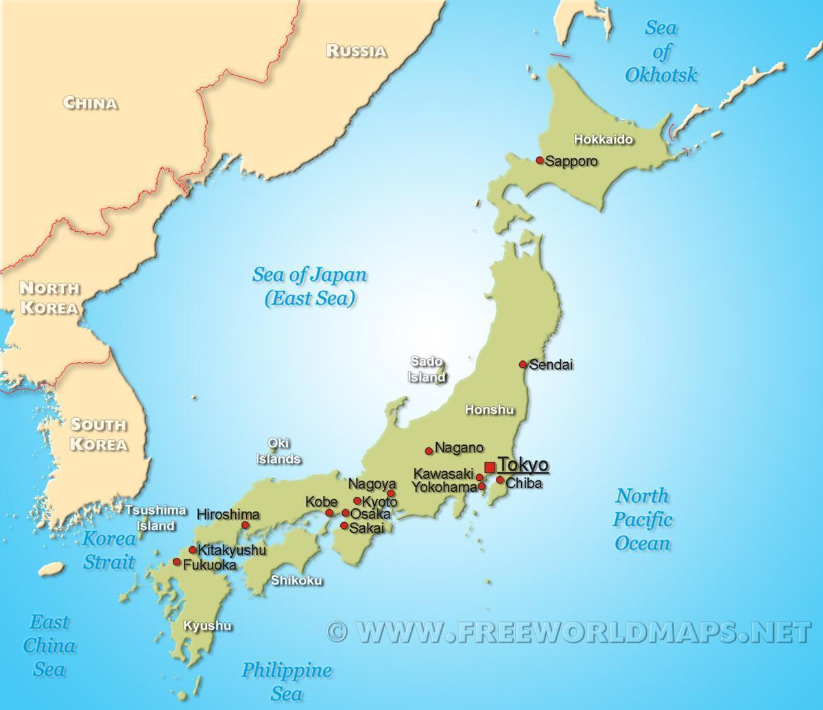 Japanin Kartta
