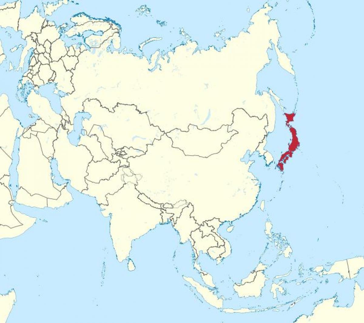 Kartta Aasia Japani Japani Aasian Kartta Ita Aasia Aasia